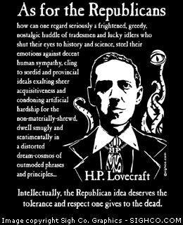 Arkham Bazaar - H. P. Lovecraft - As for Republicans shirt, $19.99 ...