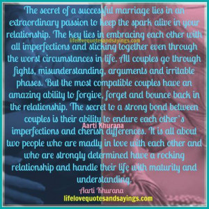 The Secret Of A Successful Marriage..