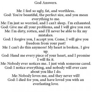 God answers•}
