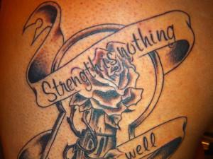 Arabic Strength Tattoo