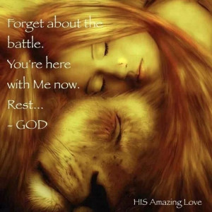 Rest in the Lord.... He has your back !