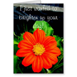 Just Wanted To Brighten Up Your Day! Greeting Card