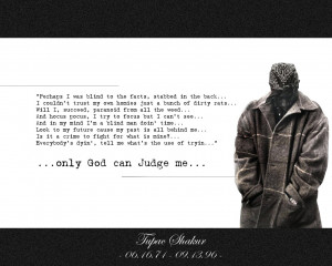 only God can Judge Me - Tupac by optiKitry