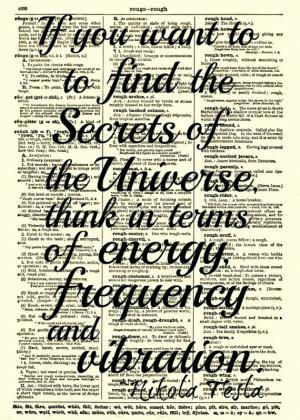 Nikola Tesla Quotes Vibration