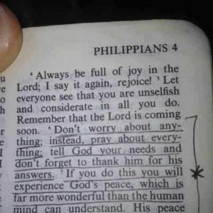 Don't worry....pray instead.
