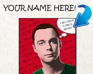 Sheldon Cooper personalized Big Ban g theory BAZINGA - FRAMED - ONE 8 ...