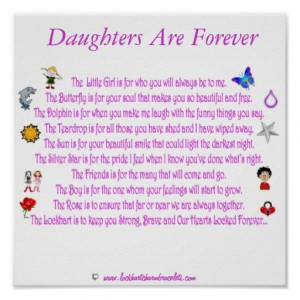 Happy Birthday Dear Daughter Poem | Daughters Are Forever Themed Poem ...