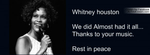 rip whitney houston Profile Facebook Covers
