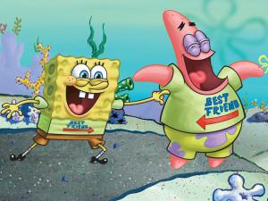 Spongebob And Patrick Best Friends Wallpaper Display of friendship