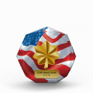 Military Officer 04 Promotion/Retirement Octagon Award