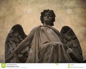 Textured Image Statue Angel...