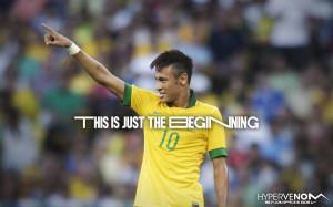 Neymar. Hypervenom soccer cleats. Nike quote