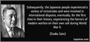 , the Japanese people experienced a variety of vicissitudes ...
