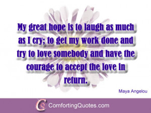 Maya Angelou Quote About Love, Life and Laugh