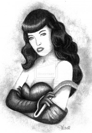 Bettie Page Image Graphic