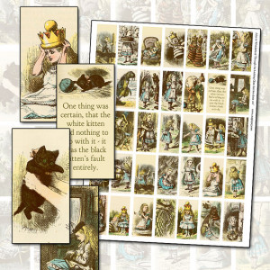 Alice in Wonderland Through The Looking Glass Color Domino Digital ...
