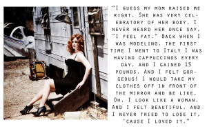 Christina Hendricks loves her curvy body, Quote of the day!