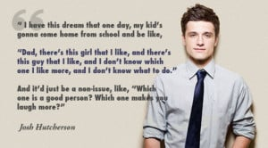 How refreshing! What a great role model Josh Hutcherson is, speaking ...
