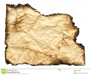 Crumpled Paper With Burned...