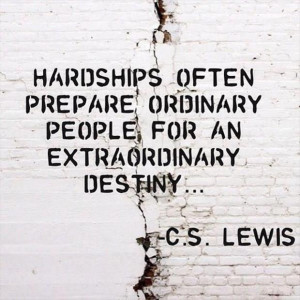 Inspirational Quote about Hardship in Life. Hardships often prepare ...