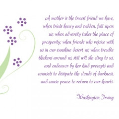 ... Mother's Day 5×7 landscape for mat card with a beautiful quote