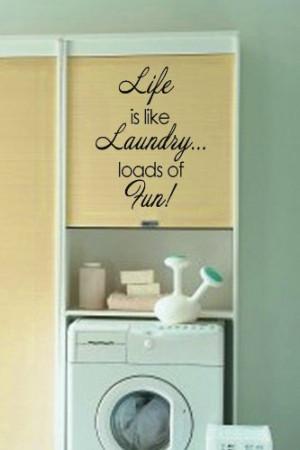 ... laundry…loads of fun!