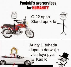 ... Two Services for Humanity [Funny Punjabi Comments/Troll Wallpaper