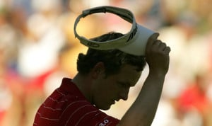 Luke Donald finished the PGA Championship in the shadows. (Photo ...