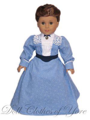 Millicent Fawcett' Dress: Sewing A Girls, Dolls Clothing 83 ...