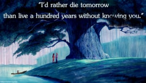 rather die tomorrow than to live a hundred years without knowing ...