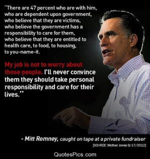 ll Never convince the 47% – Mitt Romney