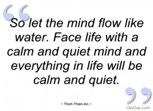 so let the mind flow like water