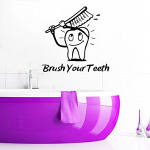 Wall Decals Quotes Vinyl Sticker Decal Quote Bathroom Stomatology ...