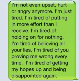 word #sad #tired #giveup #hope #relationship #feeling #Breakup # ...