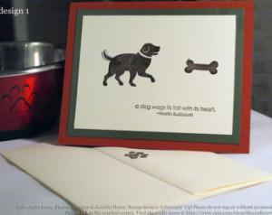 Popular items for dog sympathy card