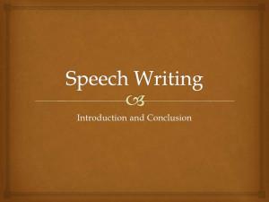How do you write a conclusion for a speech?