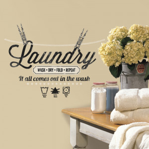 Laundry Quote Wall Decals