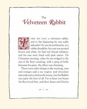 velveteen rabbit quotations
