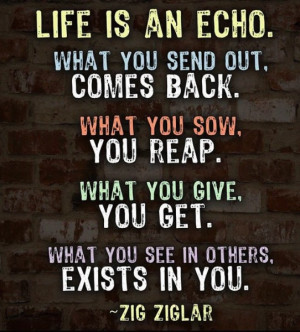 Zig Ziglar summed it up in the following quotation which is today's ...