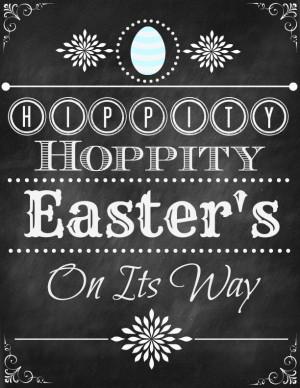 Hippity, Hoppity Easter Printable