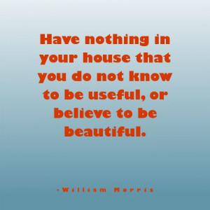 William Morris #quote