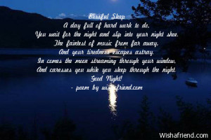 ... of hard work to do you wait for the night and slip into your night
