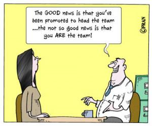 Social work cartoon: 'Congratulations on your new job!'