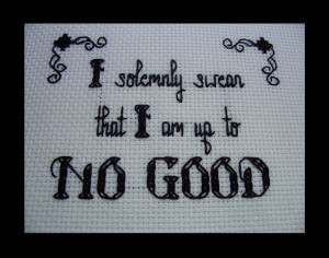... stitch pattern - Up to No Good - Harry Potter quote. $5.00, via Etsy