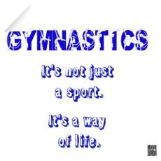 Gymnastics Decal Wall Stickers