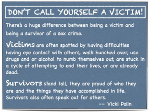 Don't Call Yourself A Victim