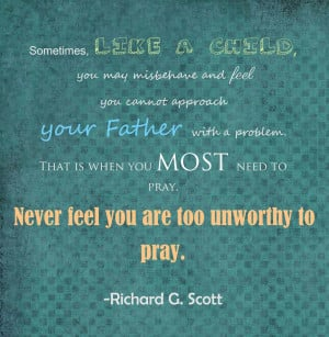 The first quote is about prayer. The second is about repentance ...