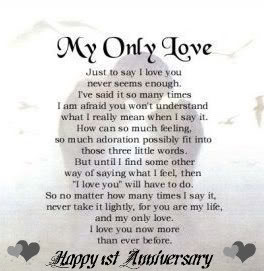 First Anniversary In Heaven Quotes Quotesgram