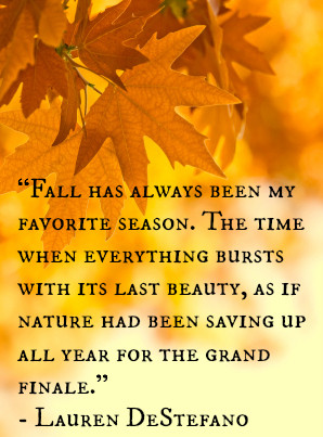 ... come alive. Lauren DeStefano paid tribute to the flashiness of fall