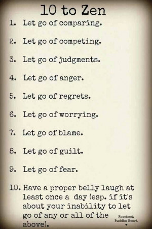 Just let go and be happy!